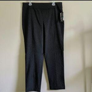 NWT stretch mini checkered black work pants slacks